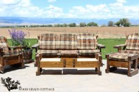 Outdoor Patio Furniture Makeover - The Wood Grain Cottage