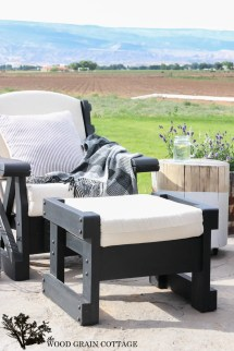 Outdoor Patio Furniture Makeover - Wood Grain Cottage