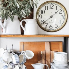 Wooden Kitchen Clock Lowes Cabinets Reviews Antique The Wood Grain Cottage Vintage By