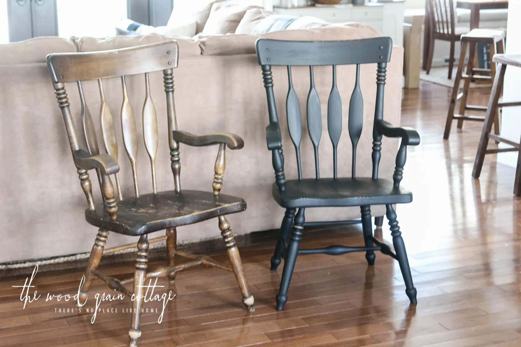 black dining table and chairs red bistro room makeover the wood grain cottage chair by