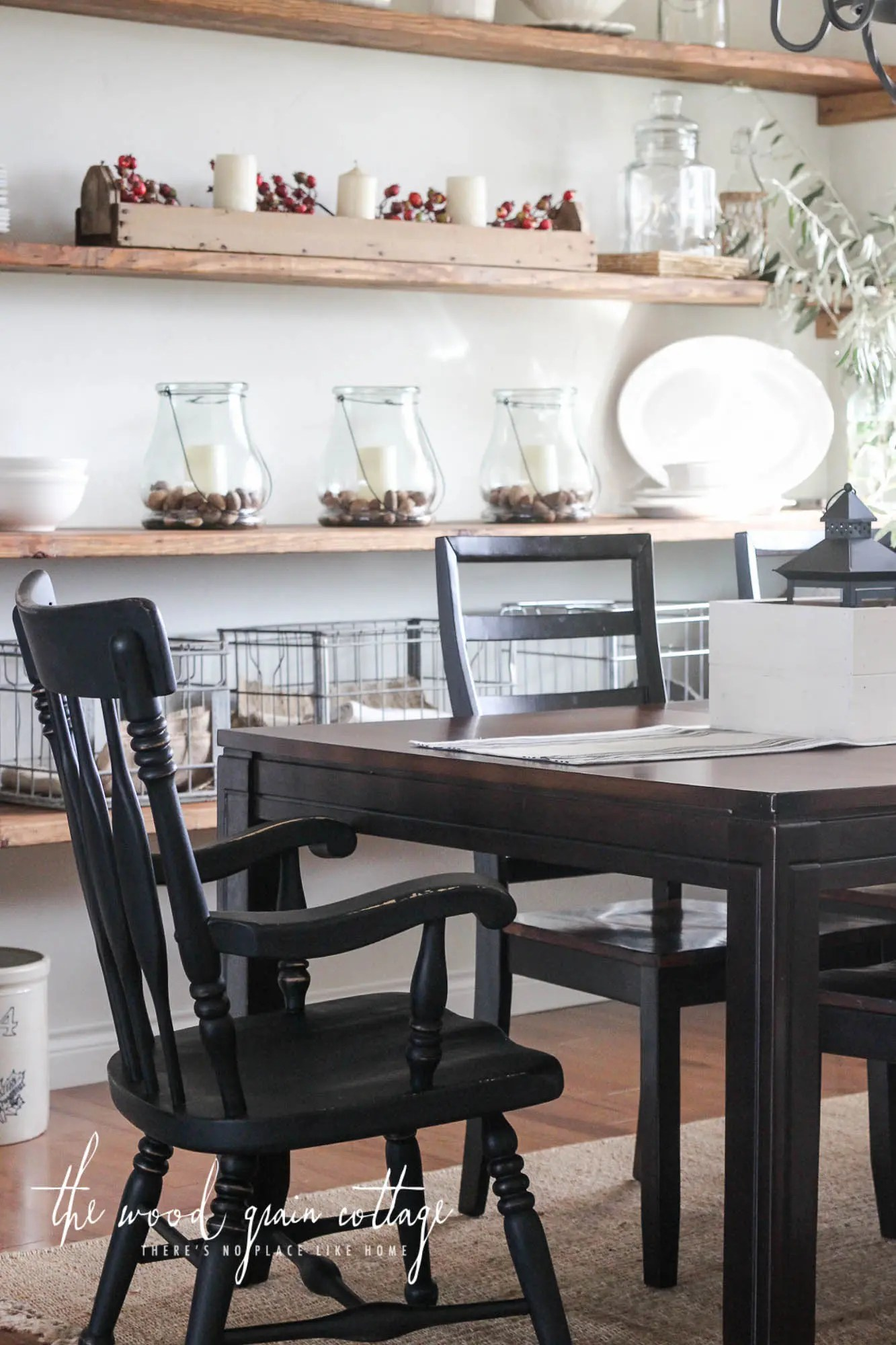 black dining room chair cheap bouncy chairs for babies makeover the wood grain cottage by