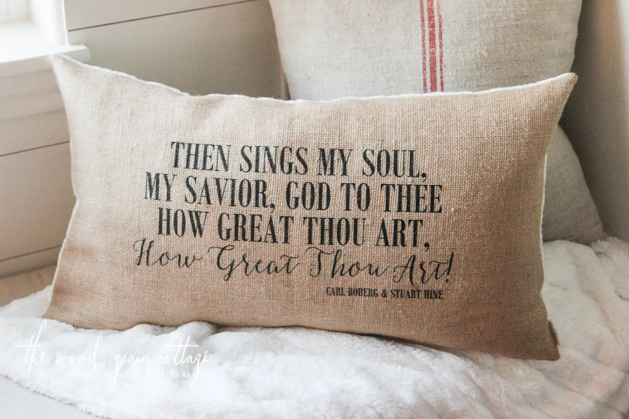 The How Great Thou Art Pillow Is BACK IN STOCK  The Wood