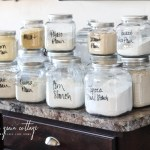 How I Organize Our Baking Canisters The Wood Grain Cottage