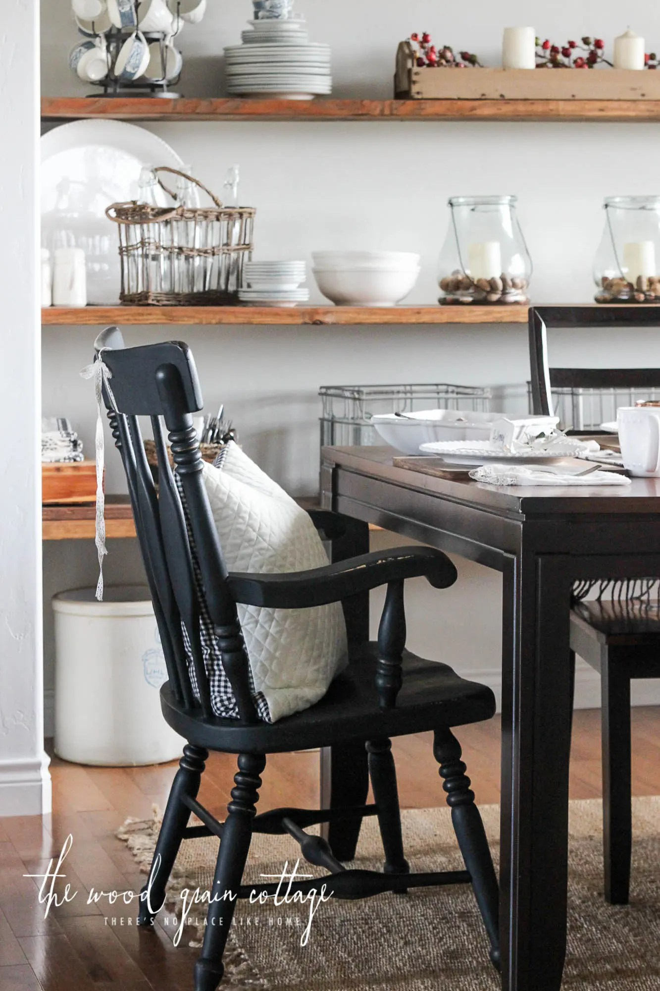 black dining room chair dental and accessories chairs makeover the wood grain cottage by