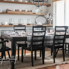 Black Dining Room Chair Metal Chaise Lounge Chairs Makeover The Wood Grain Cottage By