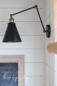 Wall Lights In The Breakfast Nook - The Wood Grain Cottage