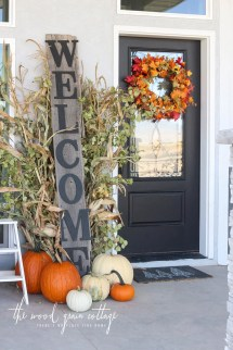 3 Fall Front Porch' Three Ways- Day 2 - Wood Grain
