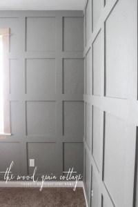 Grid Board & Batten In The Office - The Wood Grain Cottage