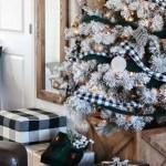 Flocked Christmas Tree The Wood Grain Cottage