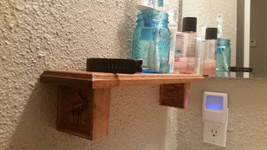 Square 2-sided Moose Corbels with shelf