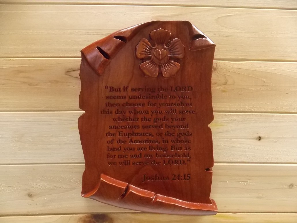 Wood-Carved Inspirational Quotes
