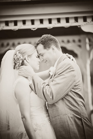 Bennett and with Caroline on their wedding day. Photo courtesy of Alex Bennett.