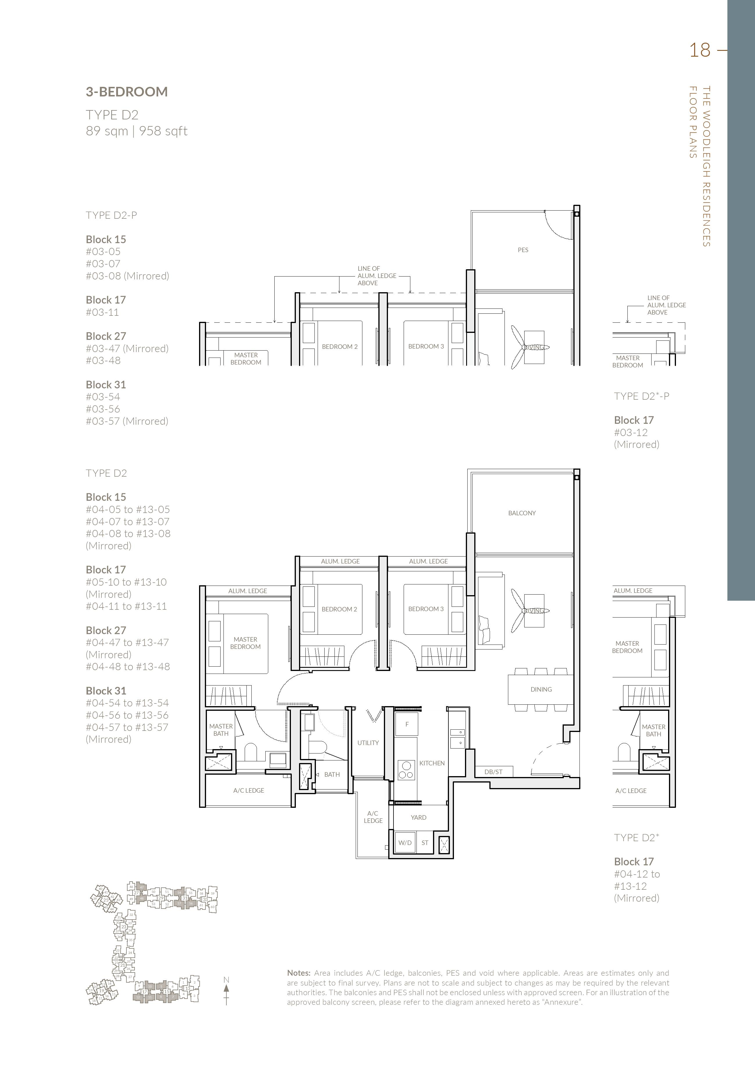 3 Bedroom The Woodleigh Residences