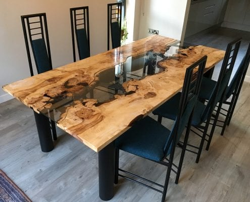 Burr Horse Chestnut River Dining Table The Wood Place