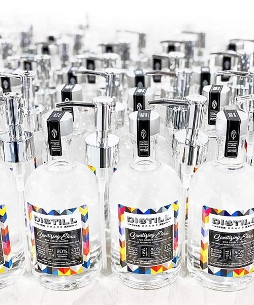 Distill Brand Sanitizing Elixir multi bottle