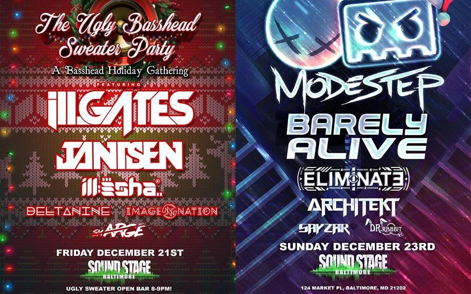 Don't Forget to Catch iLL.Gates & Jantsen at the Ugly Basshead Sweater Party this Weekend!