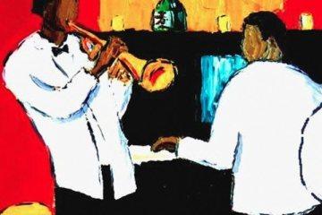 jazz quartet painting
