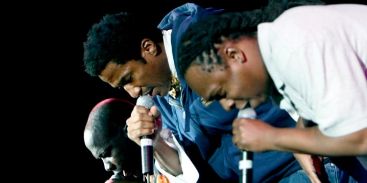 A Tribe Called Quest performing at the Wireless festival UK