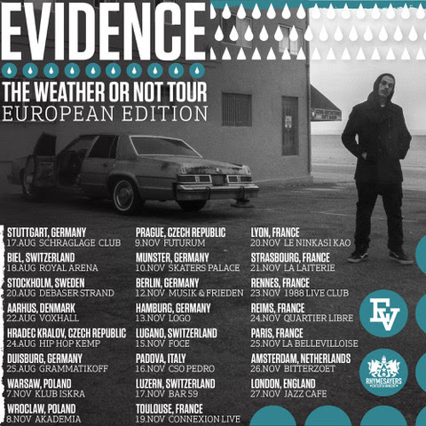 Evidence releases visuals for 'The Factory'; Plus European Tour Dates