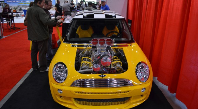 Sema 2011 – Mini Cooper with a blown HEMI!