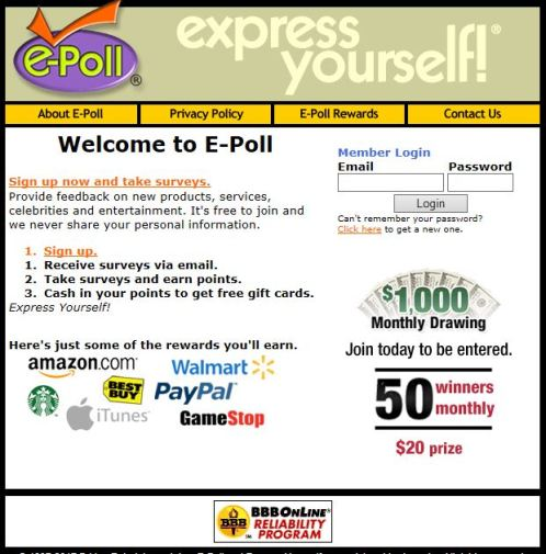 E-Poll - Make Extra Money with Paid Surveys