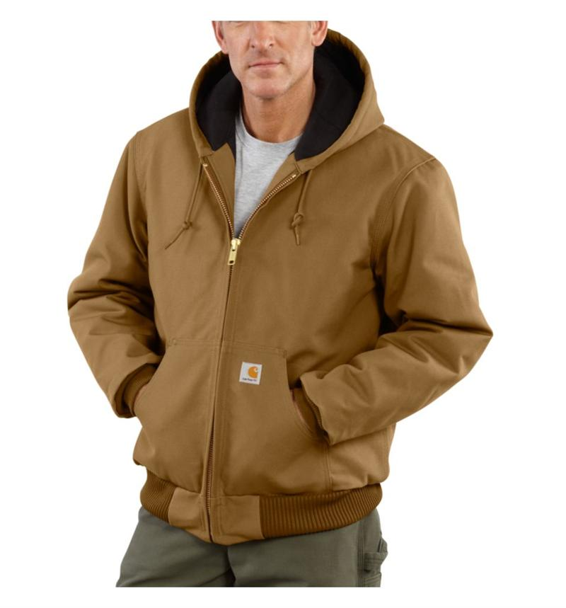 Carhartt J140  Mens Quilted Flannel Lined Duck Active Jacket