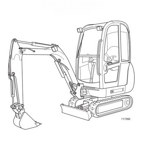 Jcb 8014 8016 8018 8020 Mini Excavator Service Repair