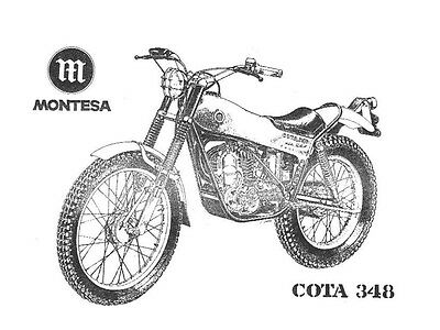 MONTESA COTA 348 Replacement Parts Manual 1978
