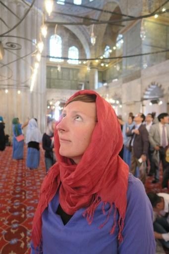 Toni in der Blauen Moschee
