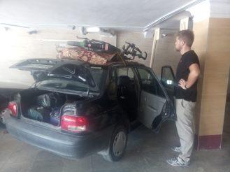 Die Räder sind bereit zum Transport