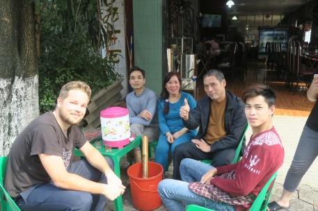 Unsere Restaurantcrew in Lao Cai