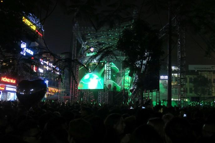 Bühne in der Innenstadt