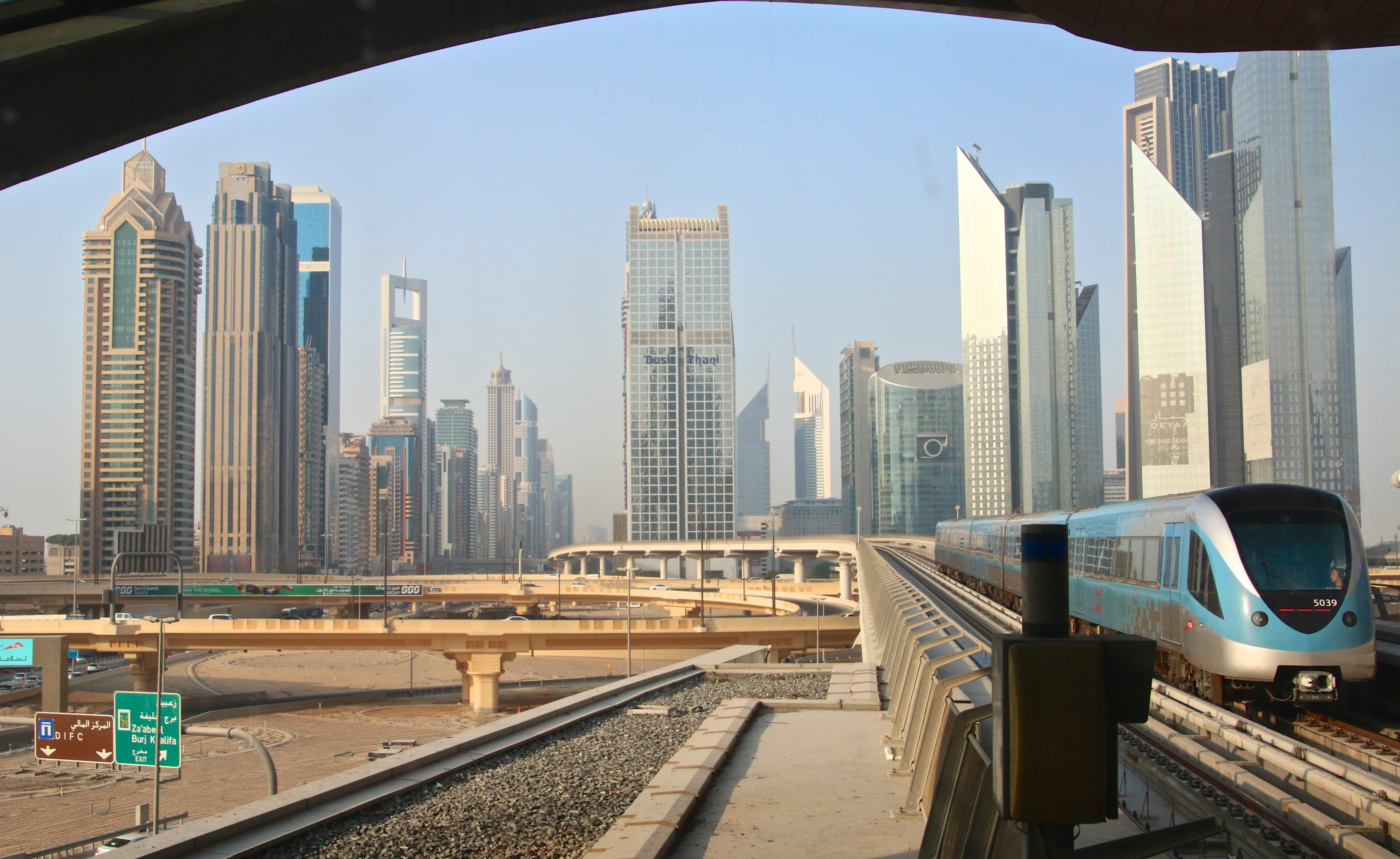 Metro – Dubai with train