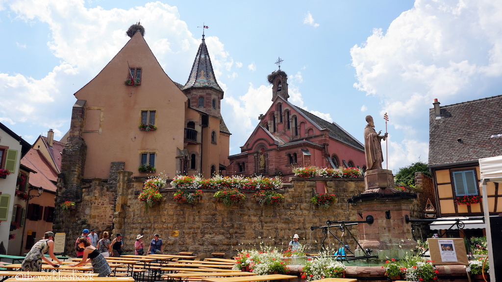 Eguisheim and Riquewirh: Storybook Villages in Alsace on The Weekly Postcard via @TravelLatte.net