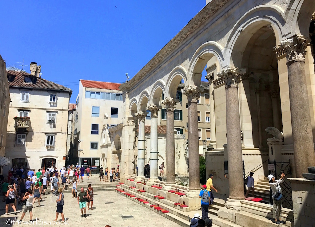 A Day in Split, Croatia, and Exploring Diocletian's Palace, by The World is a Book via The Weekly Postcard at TravelLatte.net