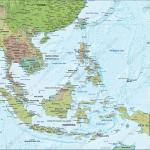 Digital Political Map South East Asia With Relief 1313 The World Of Maps Com