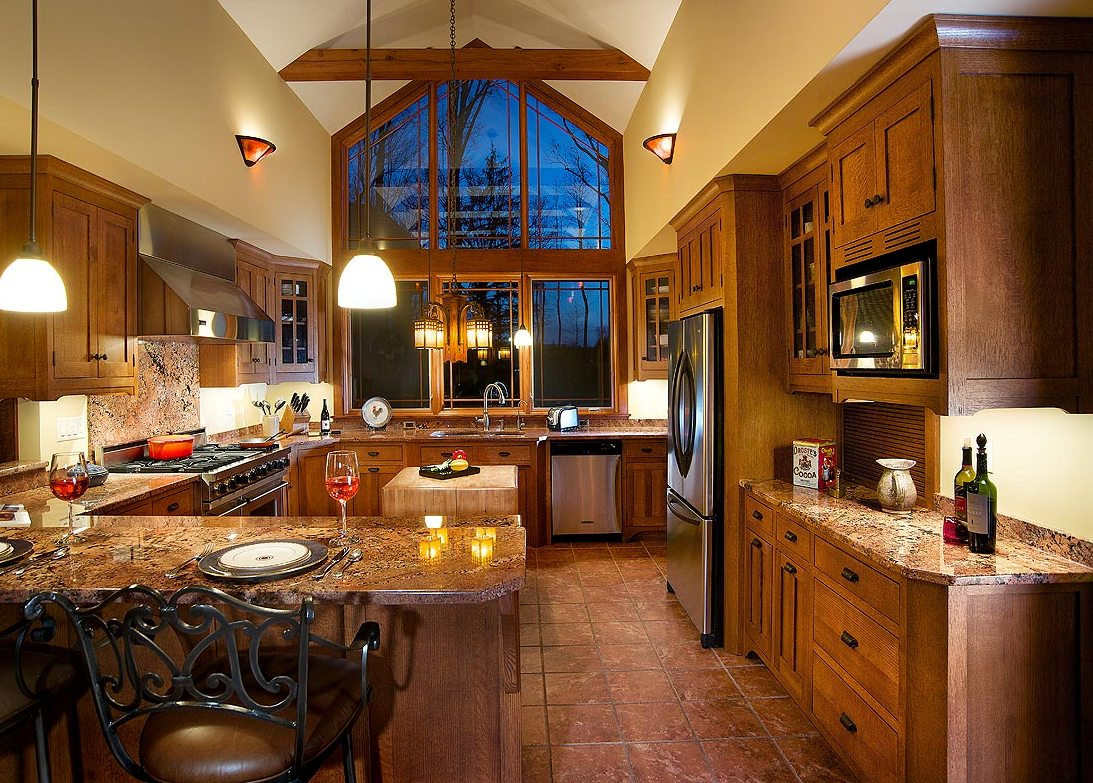 arts and crafts kitchen lighting granite kitchens 25 stylish craftsman design ideas