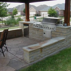 Outdoor Kitchen Patio Ideas Garbage Cans For 25 Inspiring Design Designed Living