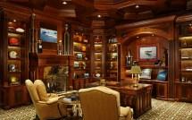 Mediterranean Home Office Design
