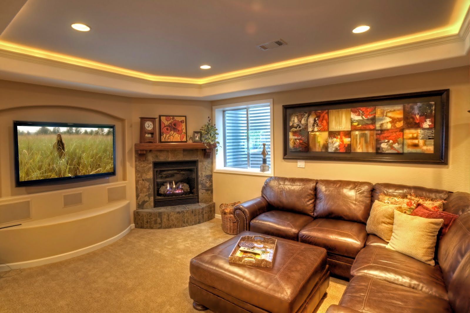 Family Room Decorating Ideas Leather Furniture