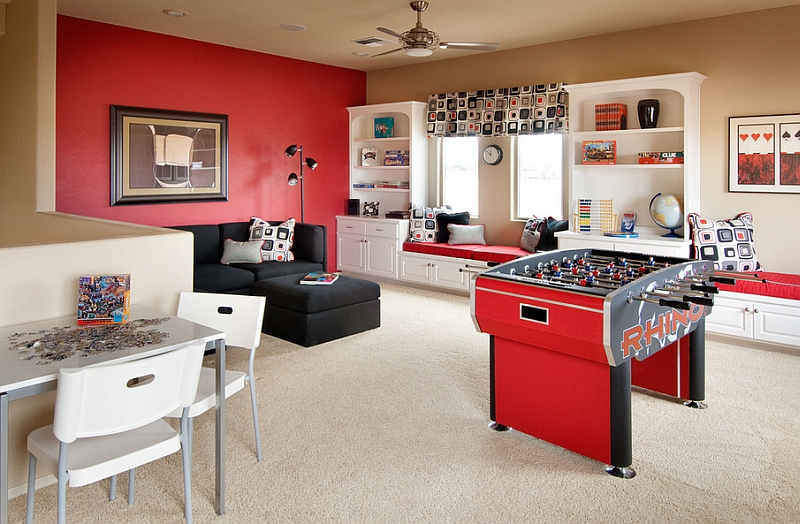 To create a space in your home for your teens to get away with their friends, start with a list of game room ideas. 23 Game Rooms Ideas For A Fun Filled Home