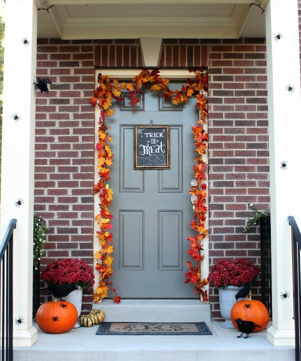 Porch Decor With Exposed Wall