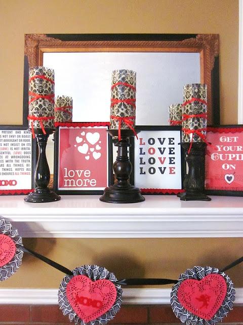 25 Valentines Day Fireplace Decor Ideas