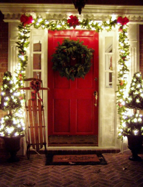 Outdoor Front Porch Christmas Decorating Ideas