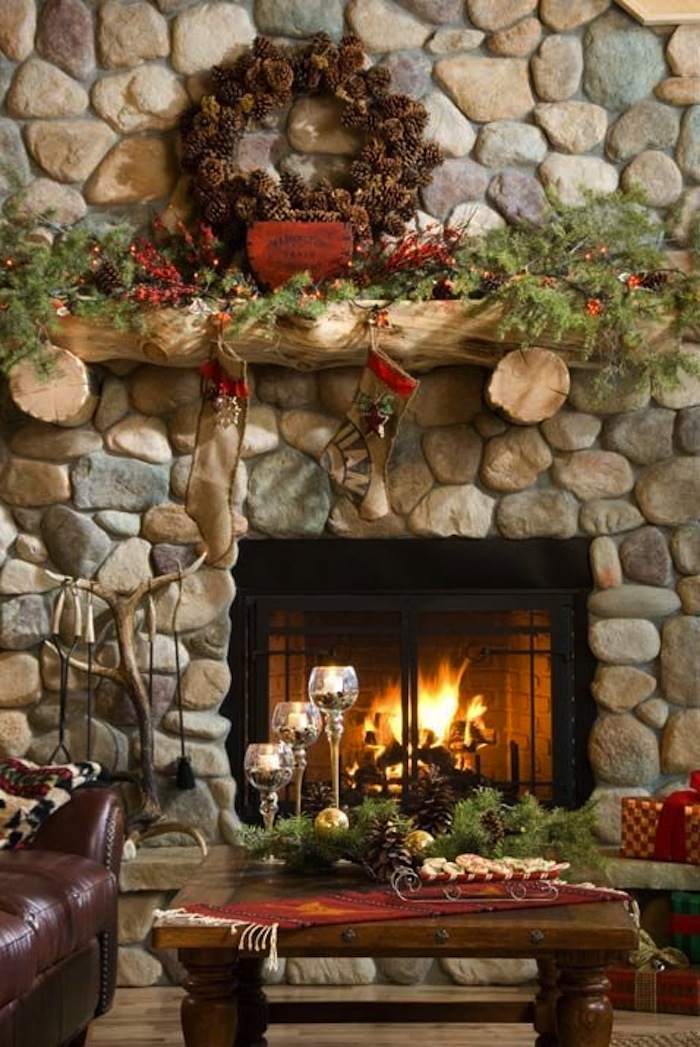 country christmas decor. Black Bedroom Furniture Sets. Home Design Ideas