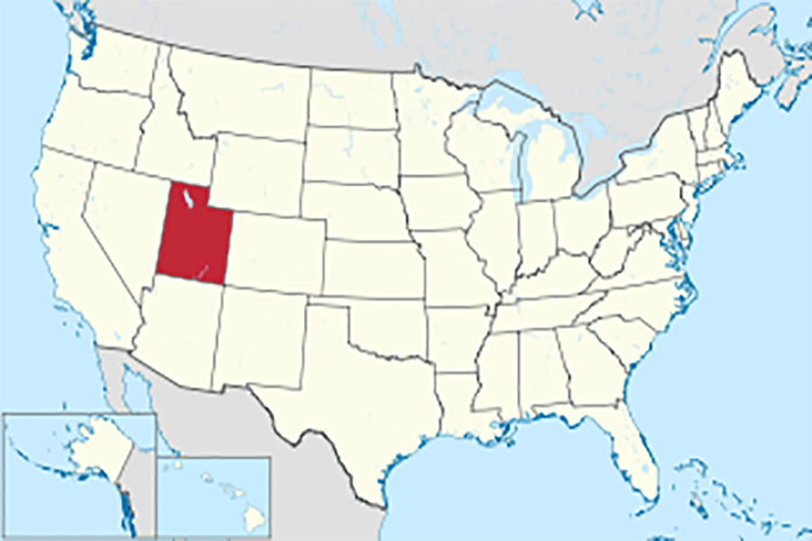 Utah+on+the+U.S.+map