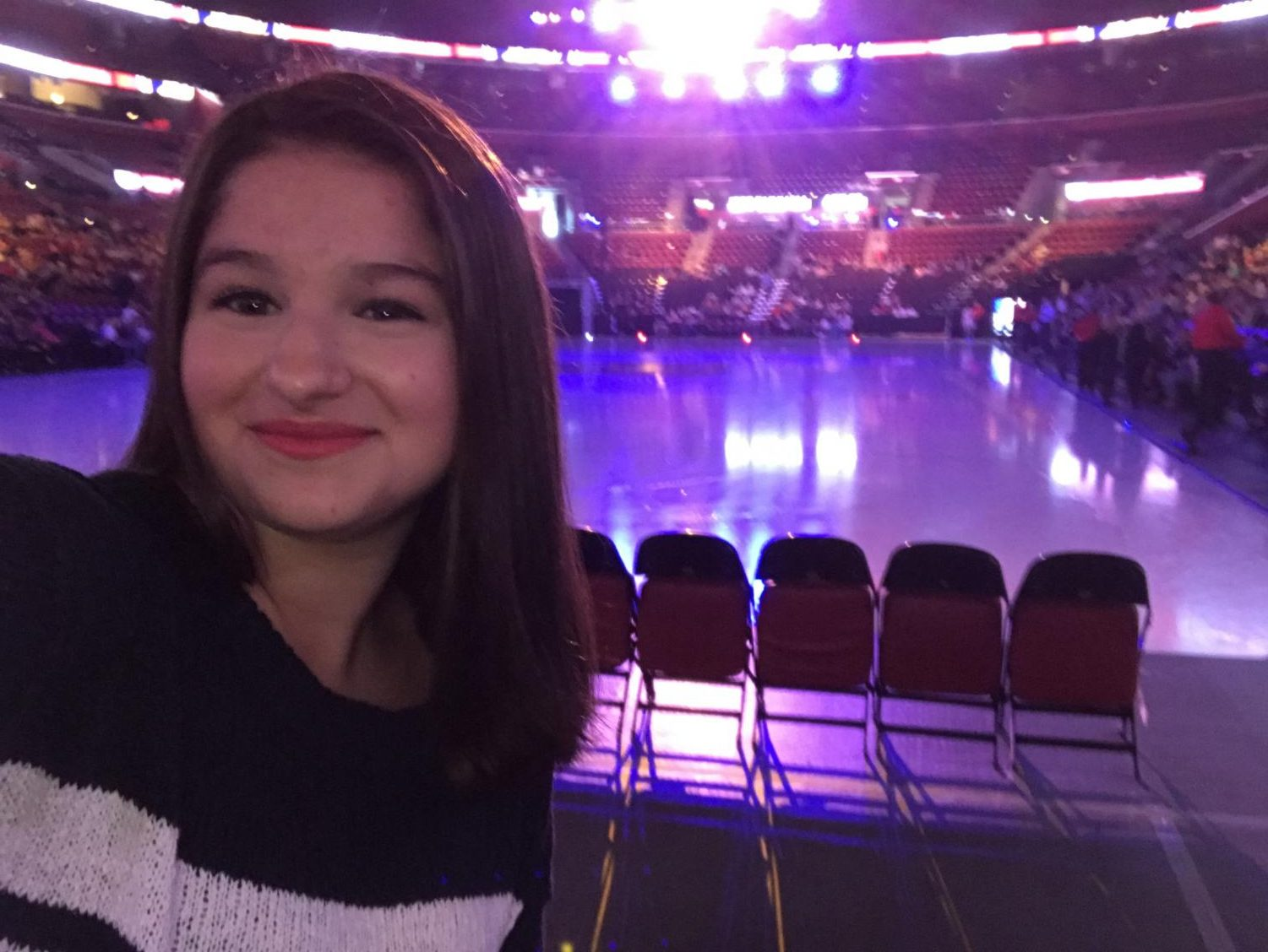 Luana Ghandour is watching the Stars On Ice figure skating show.