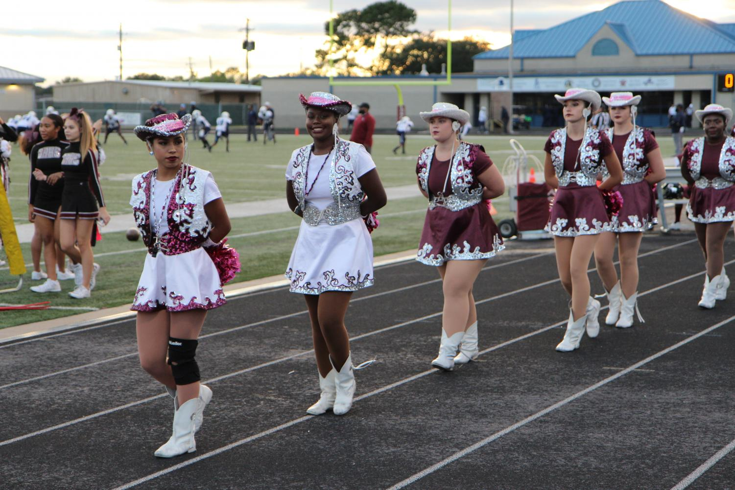 The Lariettes at the homecoming game.