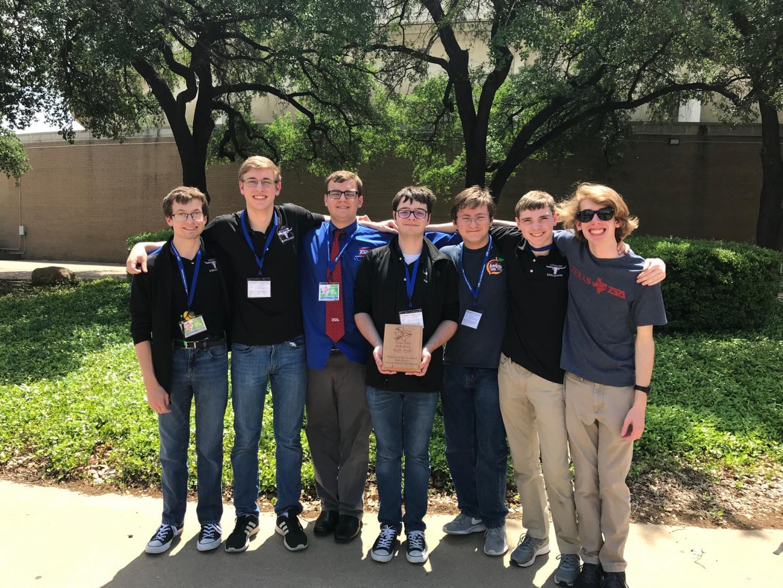 The GR TSA Leadership team: (l-r) Gabe Ethridge, Zach Carlino, James Valentine, Will Culpepper, Ryan Welty, Josh Prushing, and Andrew Phillips