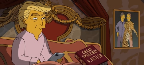 Image result for image simpsons trump